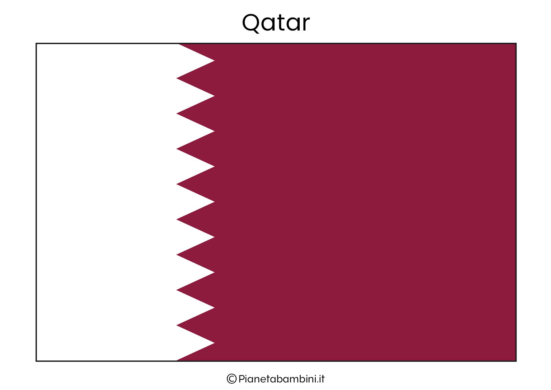 Bandiera del Qatar da stampare
