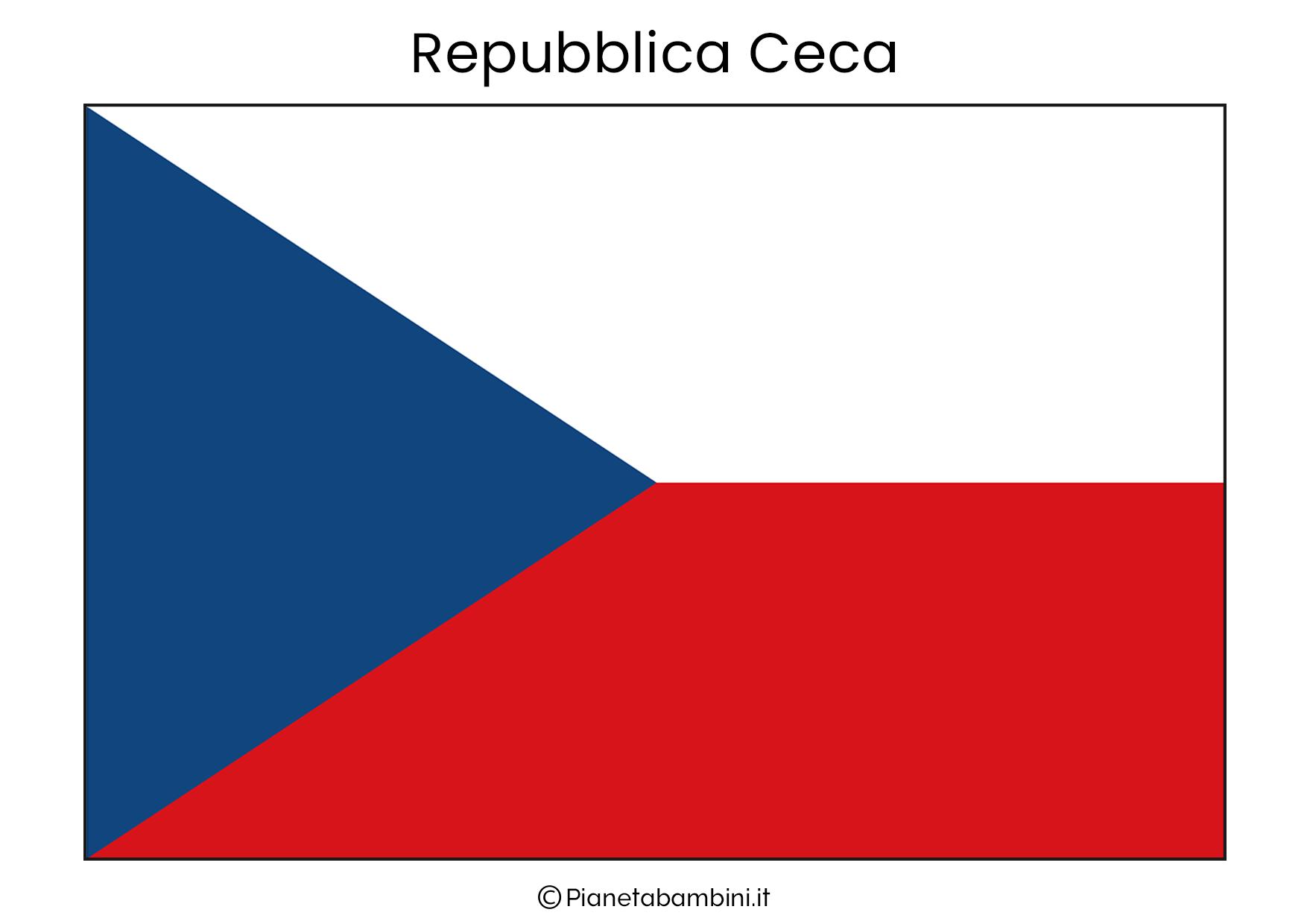 Bandiera della Repubblica Ceca da stampare
