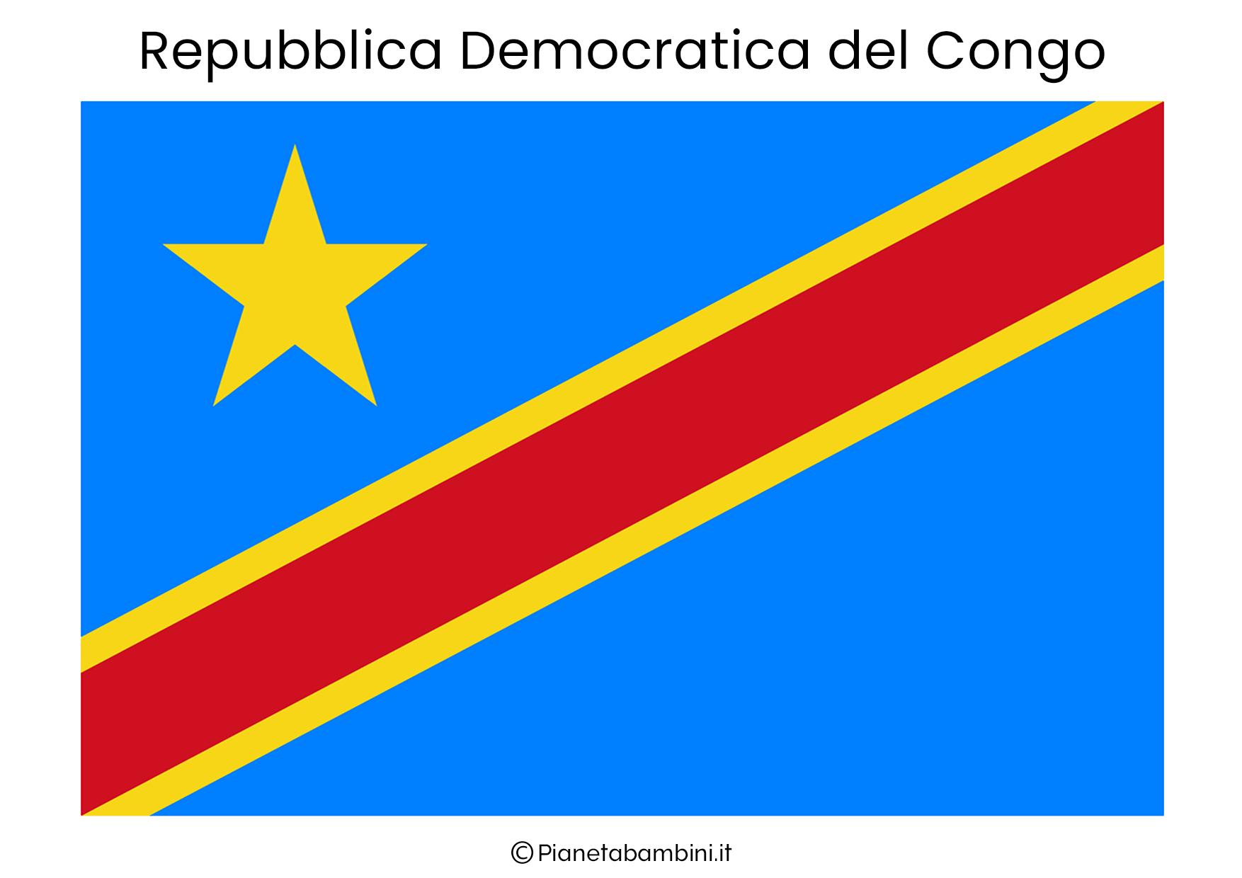 Bandiera della Repubblica Democratica Congo da stampare