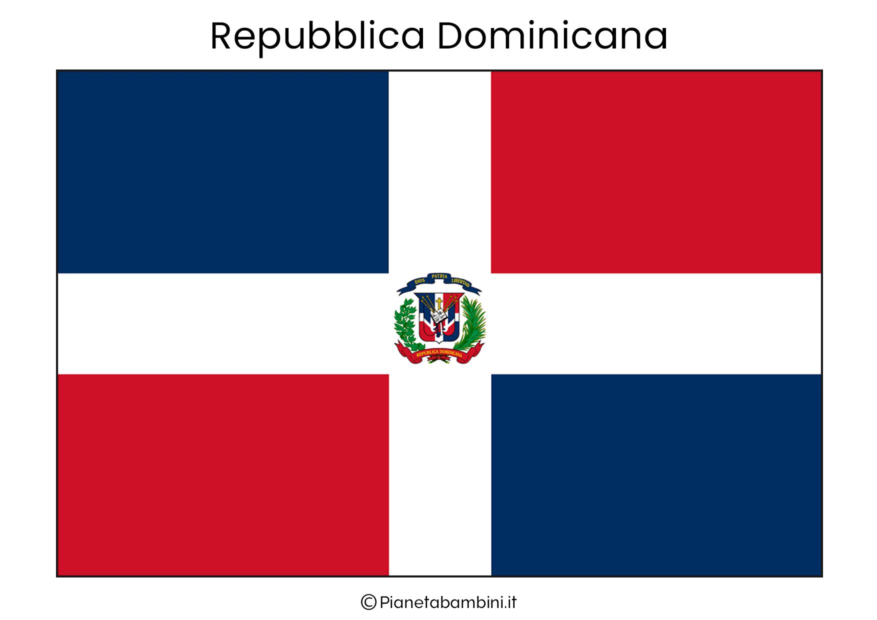 Bandiera della Repubblica Dominicana da stampare