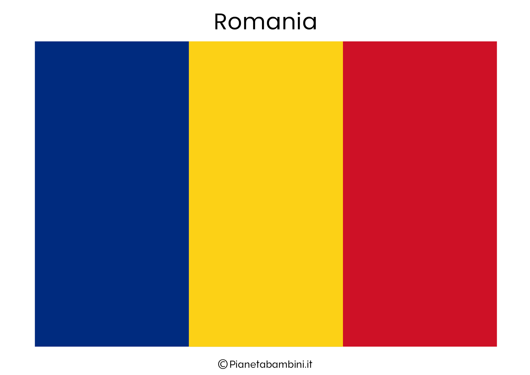 Bandiera della Romania da stampare