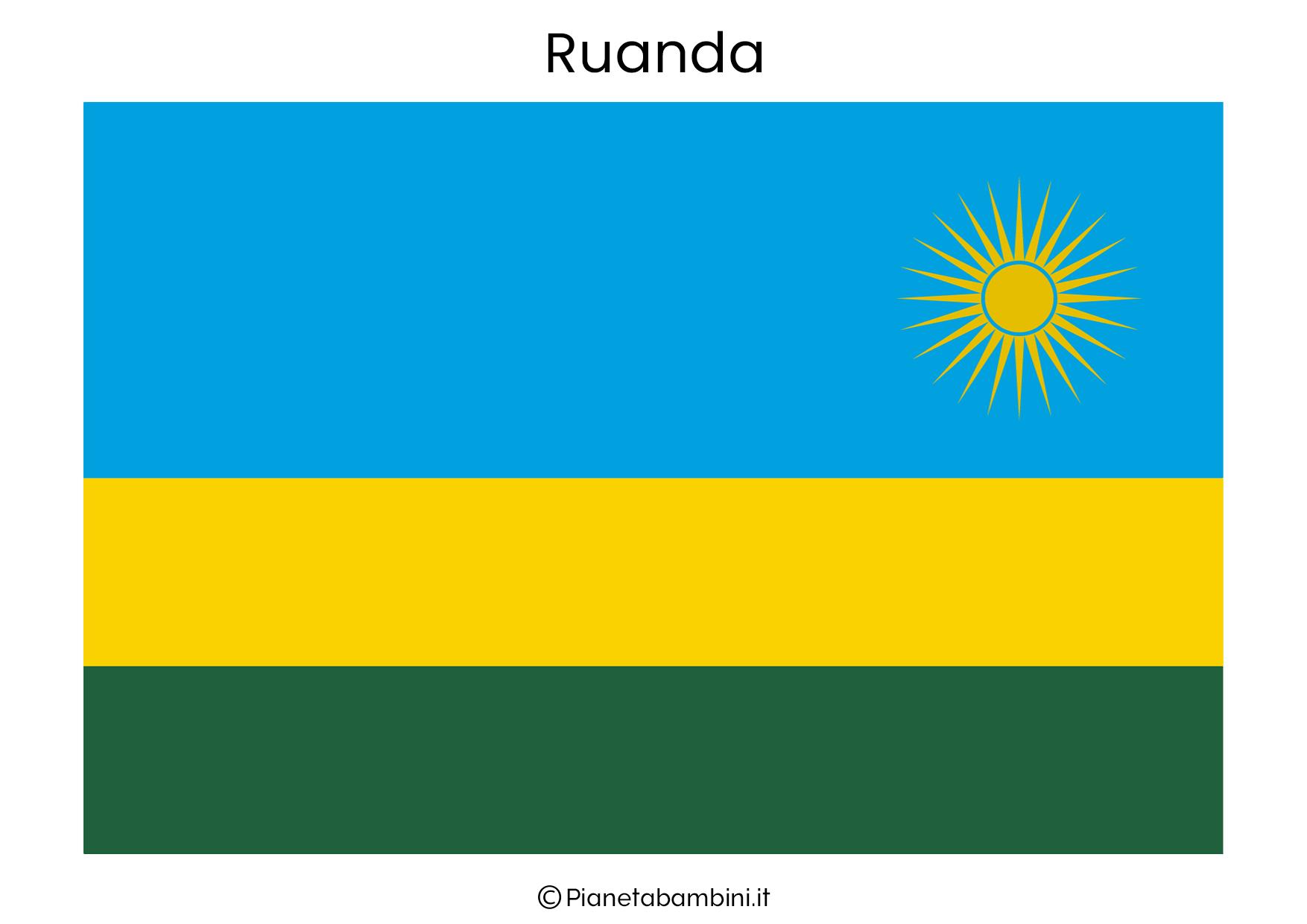 Bandiera del Ruanda da stampare
