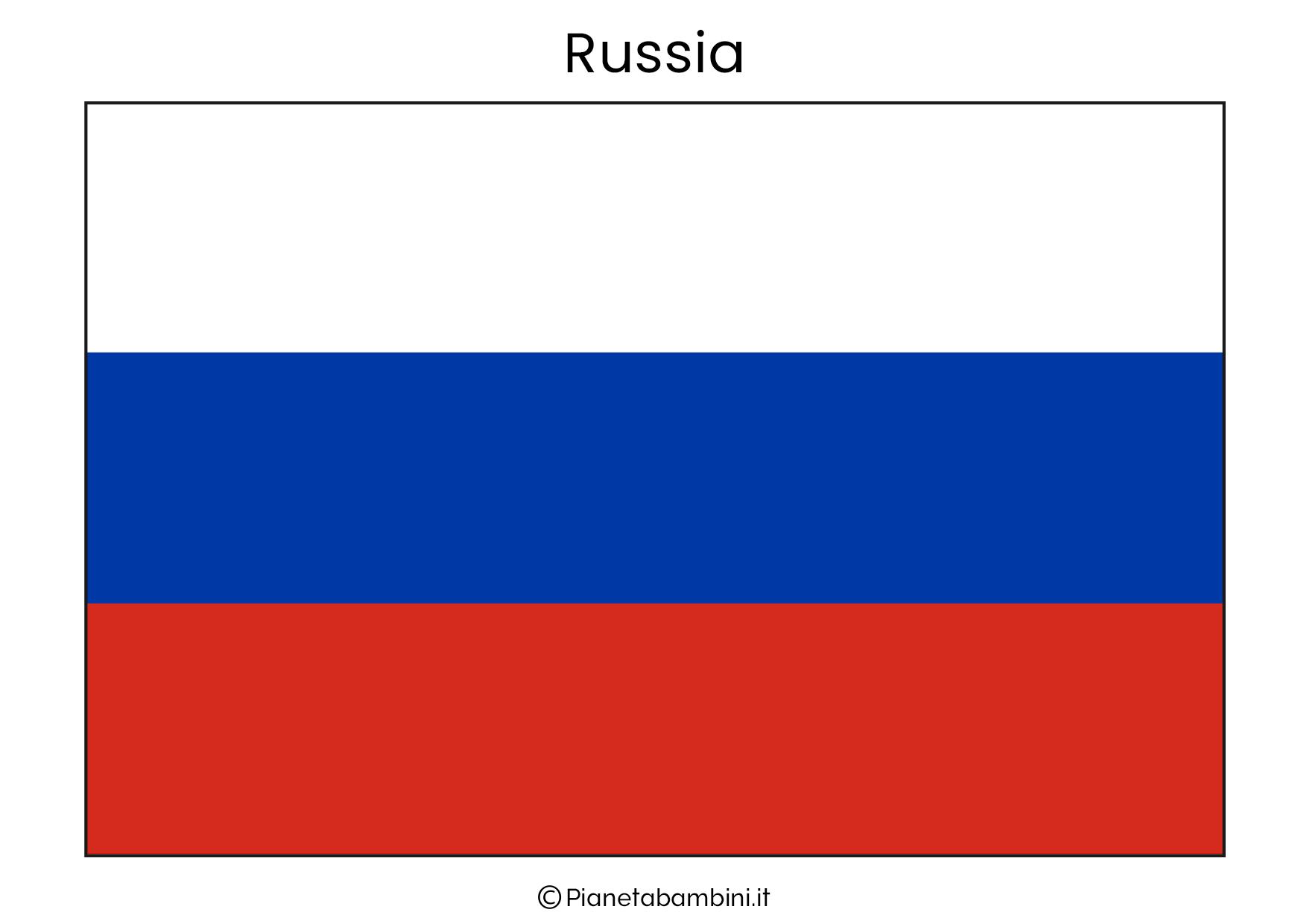 Bandiera della Russia da stampare
