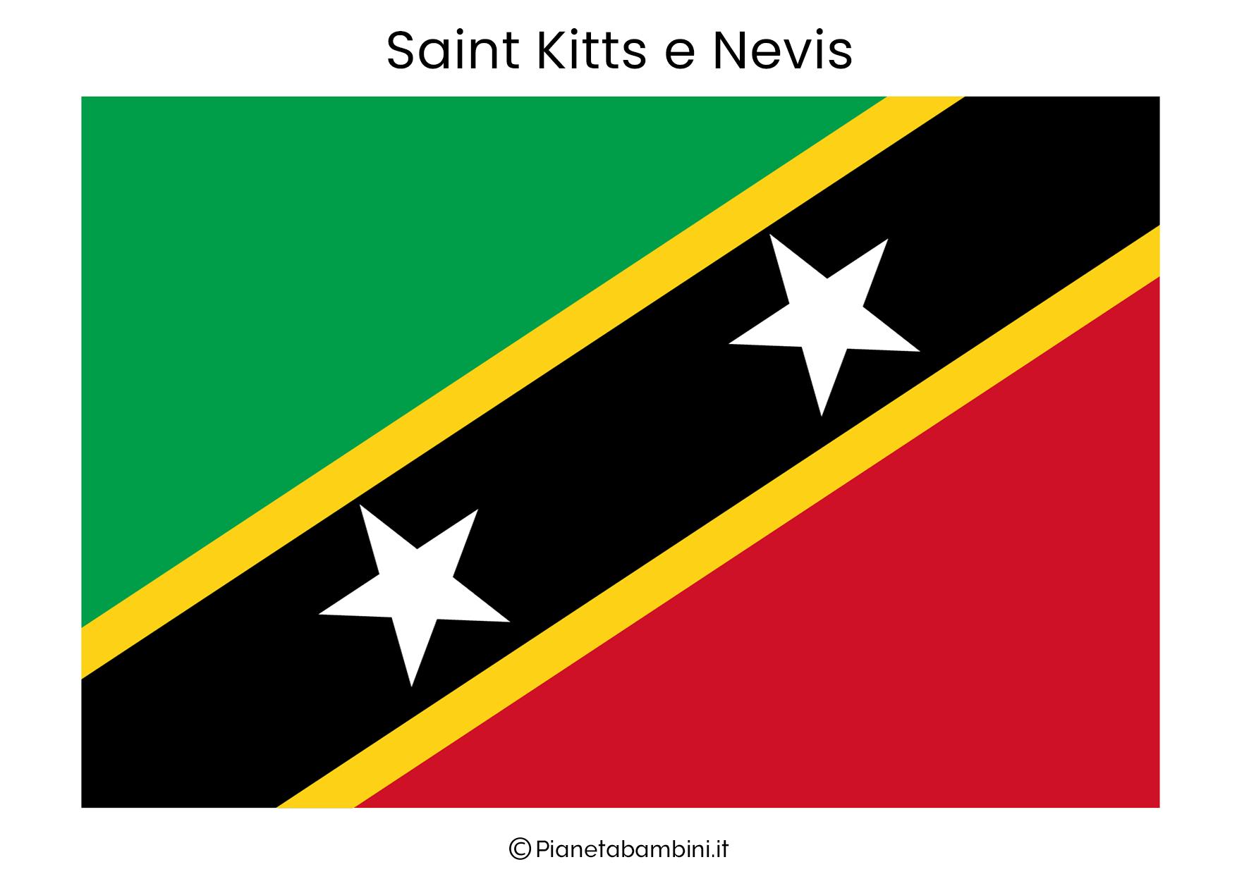 Bandiera di Saint Kitts e Nevis da stampare