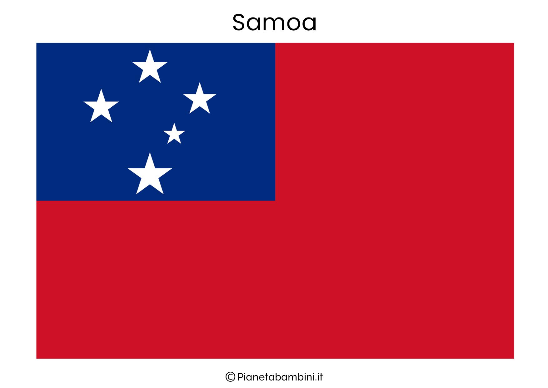 Bandiera di Samoa da stampare