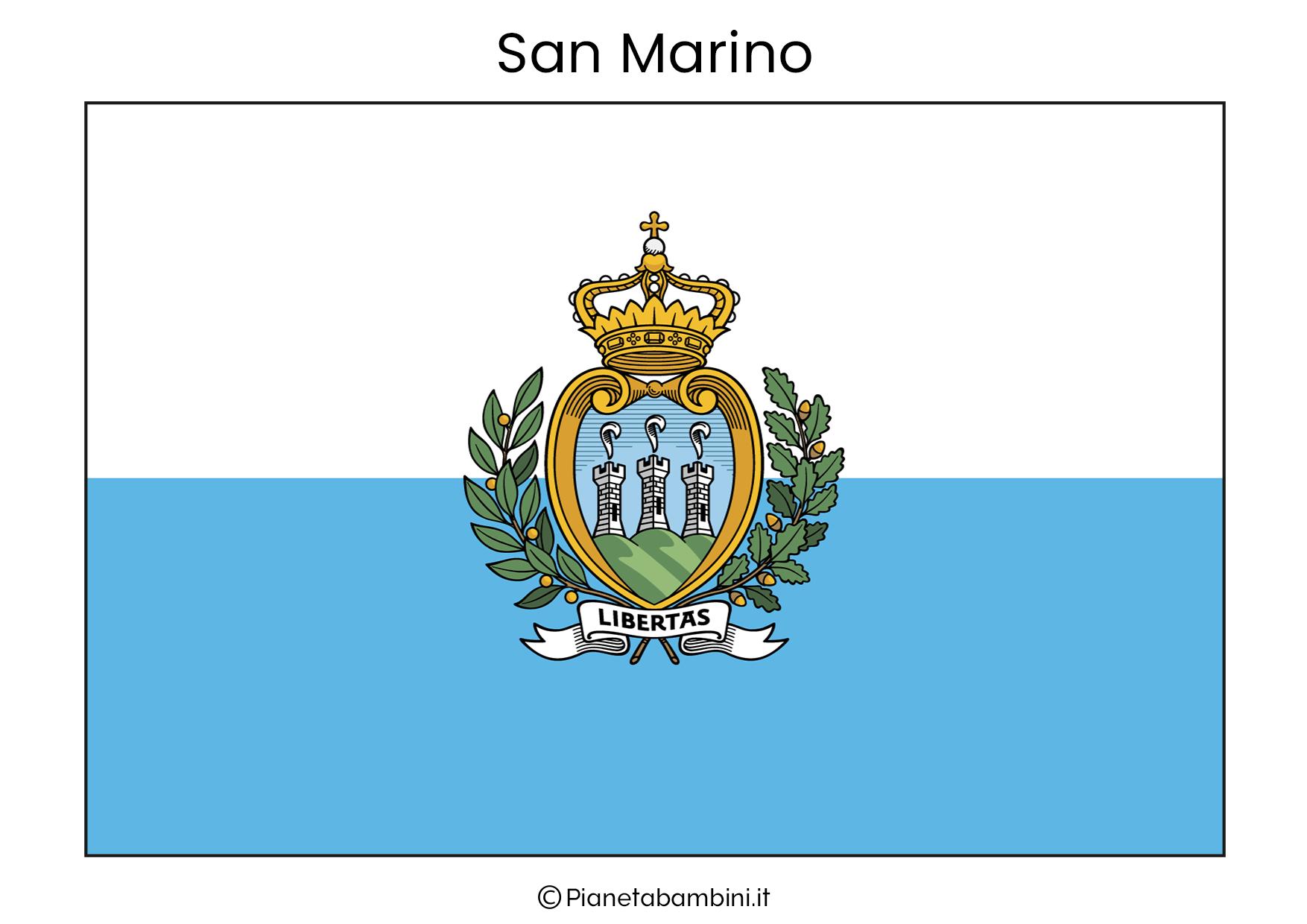 Bandiera di San Marino da stampare