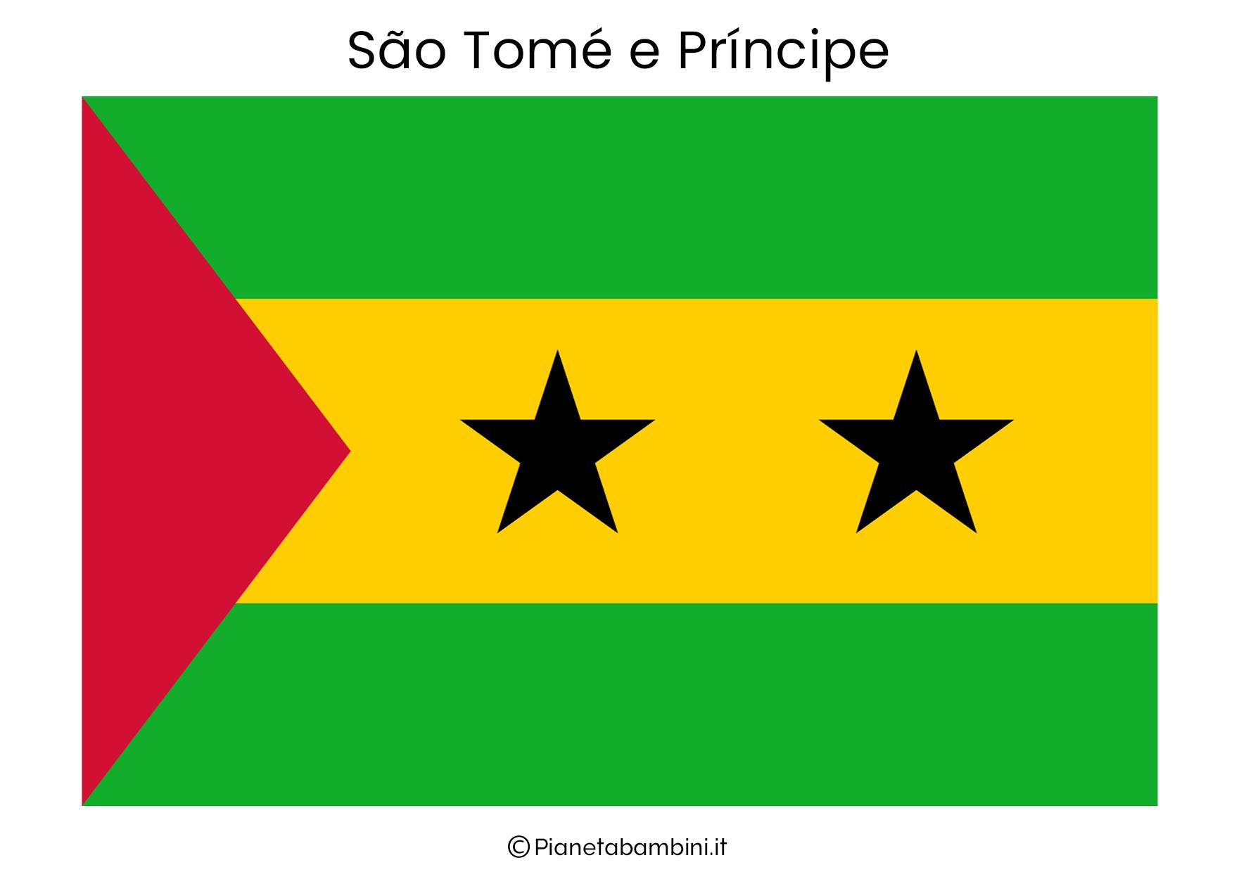 Bandiera del Sao Tome e Principe da stampare