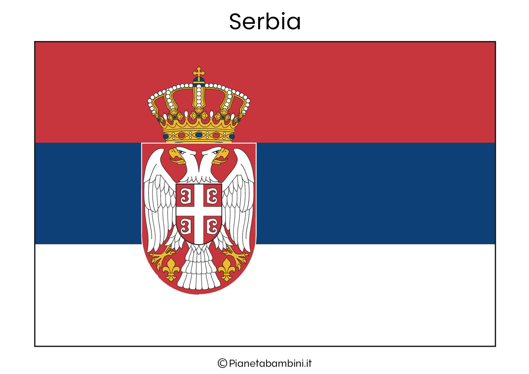 Bandiera della Serbia da stampare