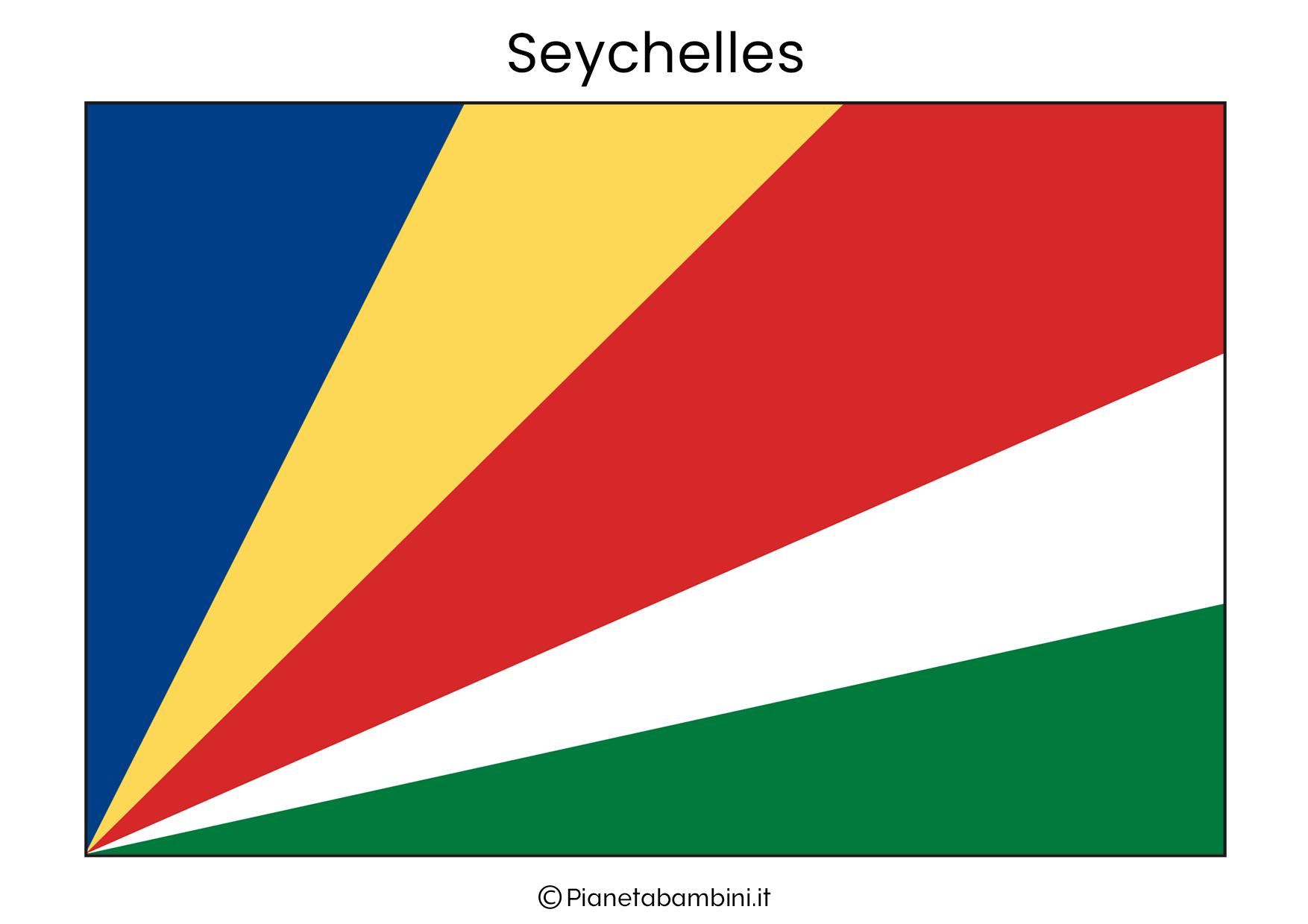 Bandiera delle Seychelles da stampare