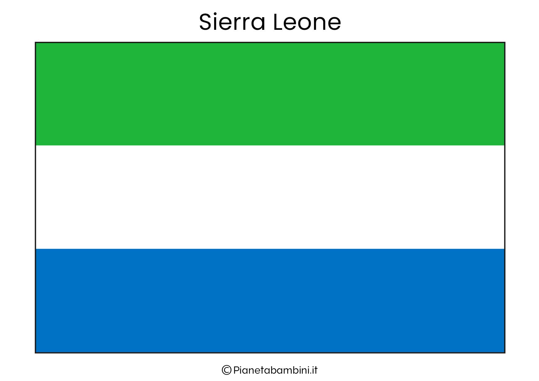 Bandiera della Sierra Leone da stampare