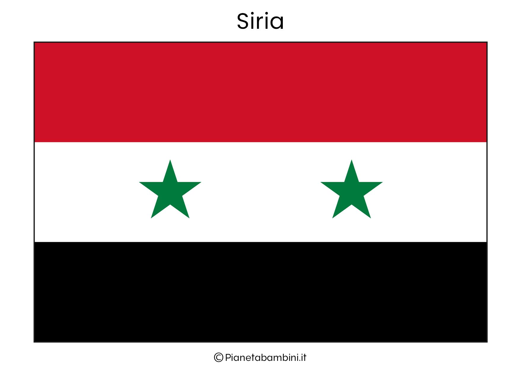 Bandiera della Siria da stampare