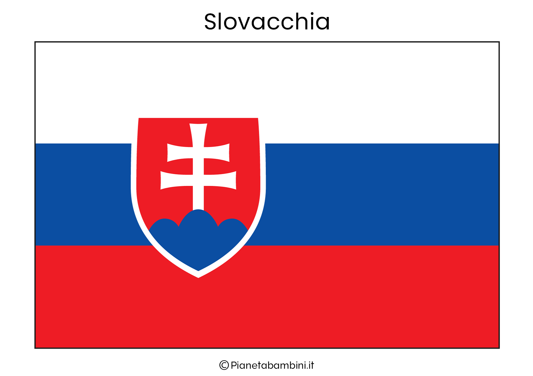 Bandiera della Slovacchia da stampare