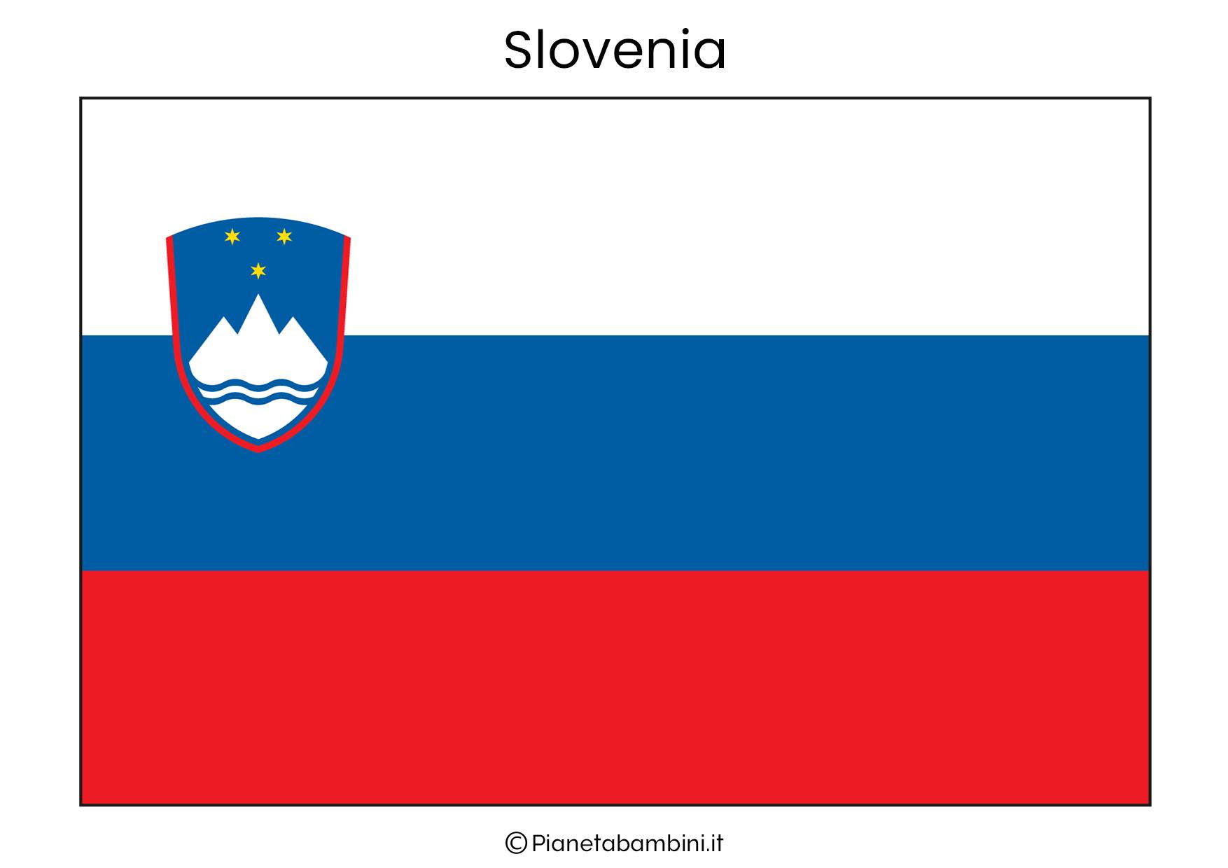 Bandiera della Slovenia da stampare