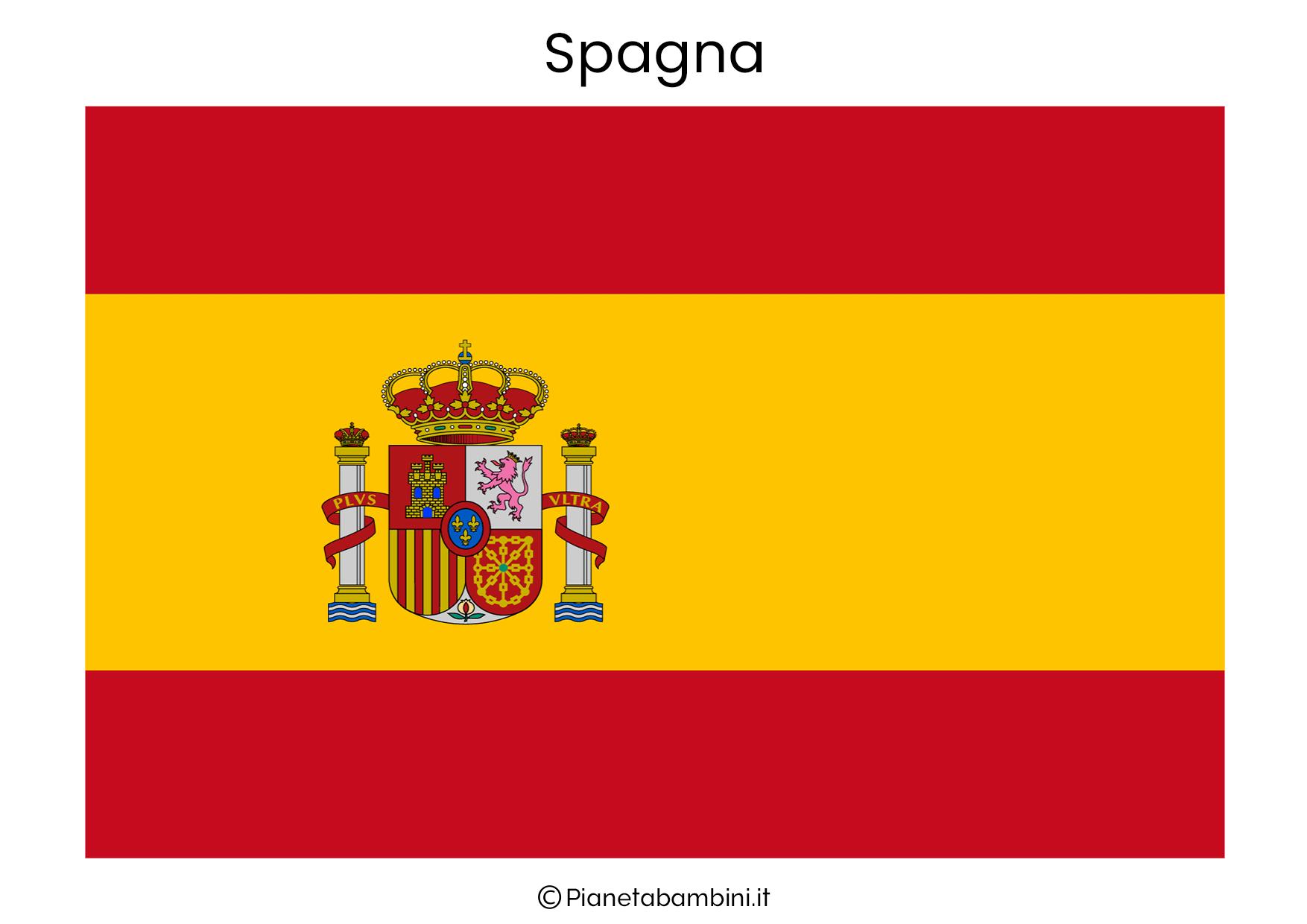 Bandiera della Spagna da stampare
