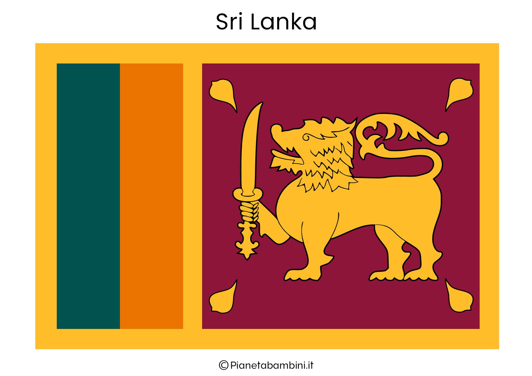 Bandiera del Sri Lanka da stampare