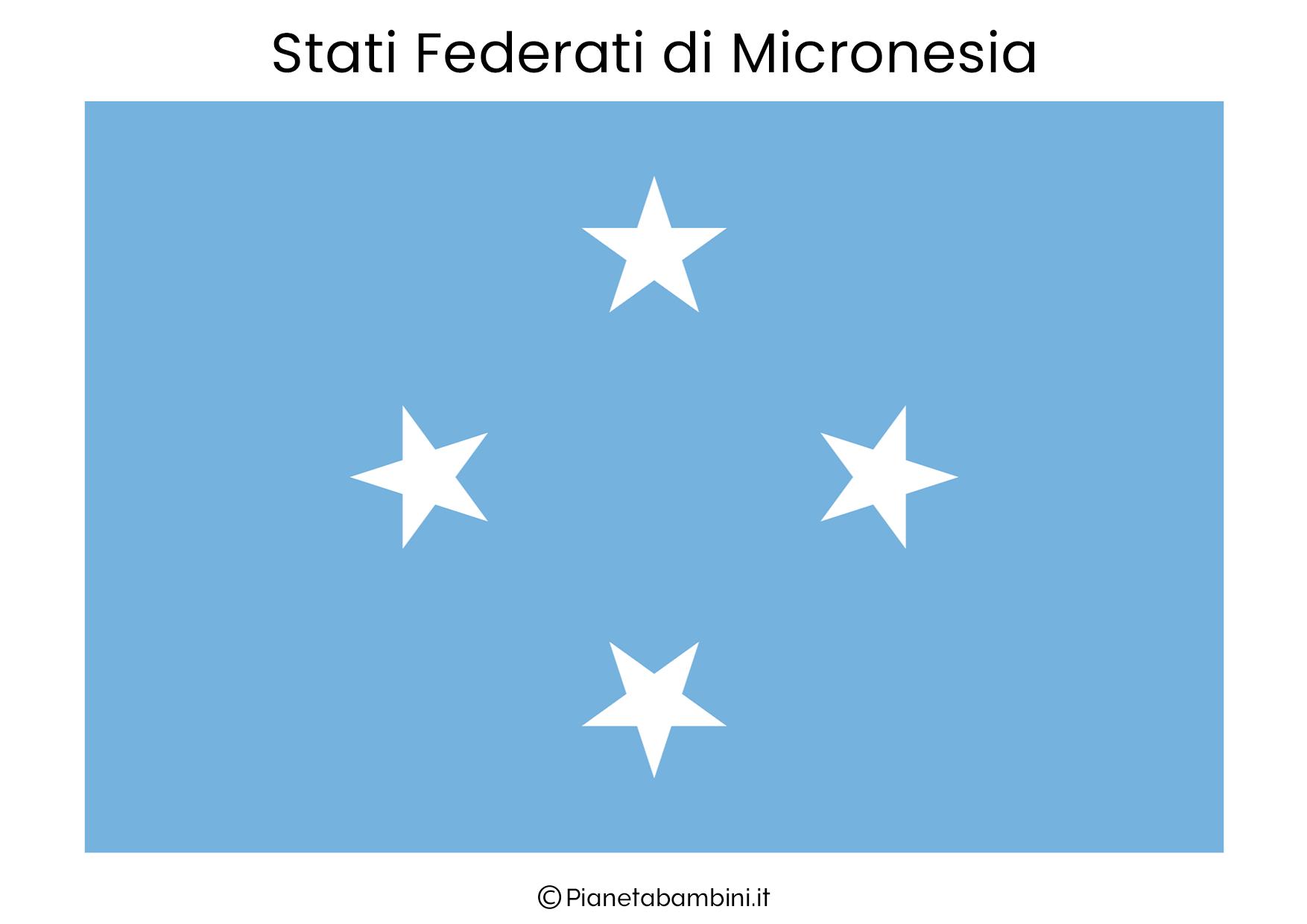 Bandiera degli Stati Federati di Micronesia da stampare