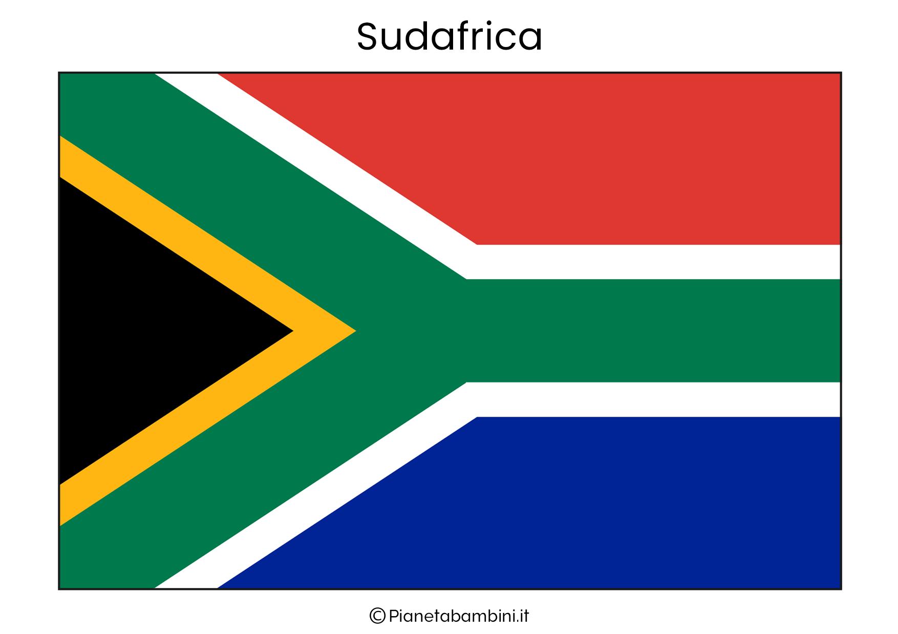Bandiera del Sudafrica da stampare