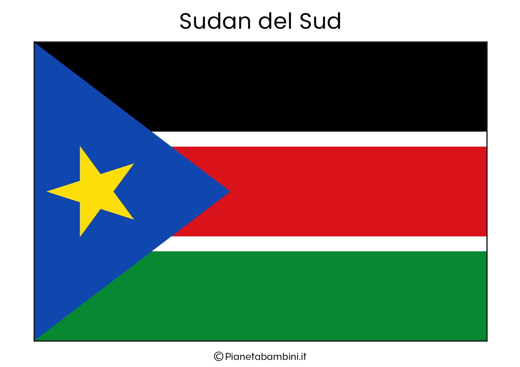 Bandiera del Sudan del Sud da stampare