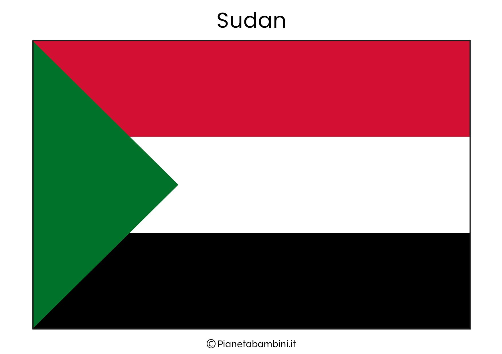 Bandiera del Sudan da stampare