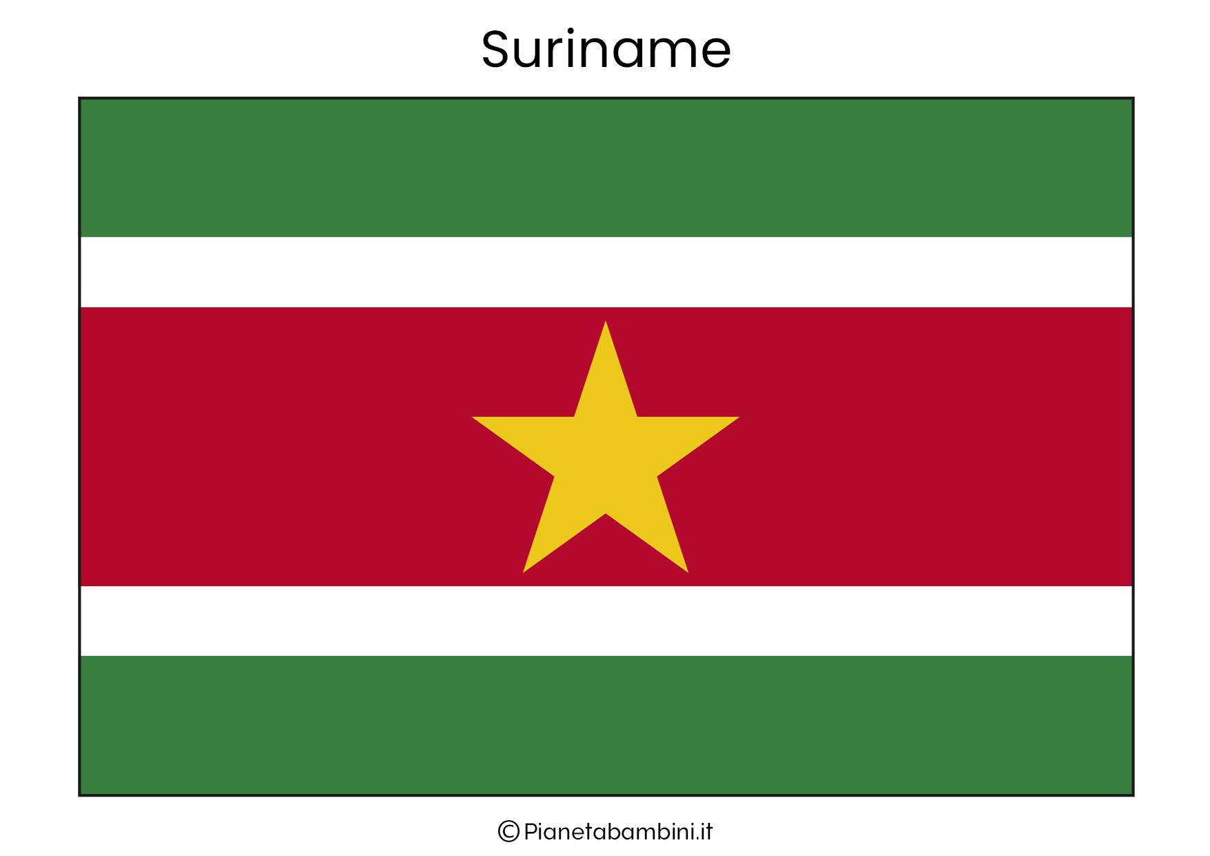 Bandiera del Suriname da stampare