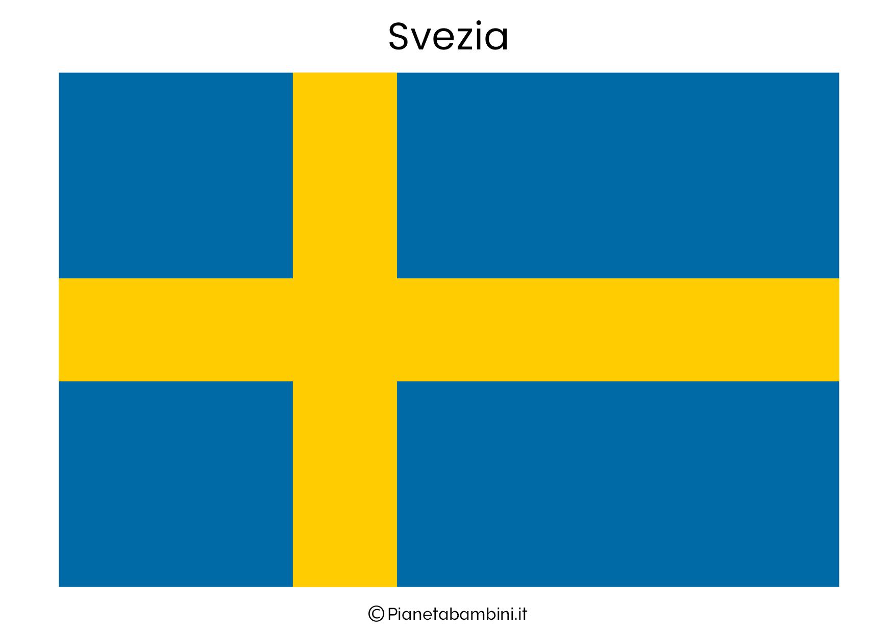 Bandiera della Svezia da stampare