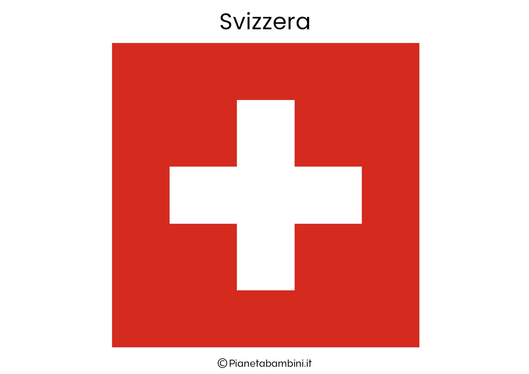 Bandiera della Svizzera da stampare