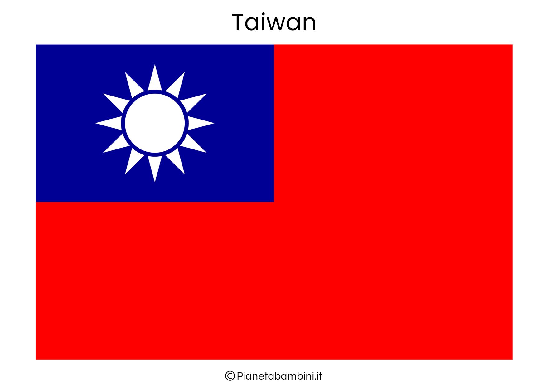 Bandiera di Taiwan da stampare