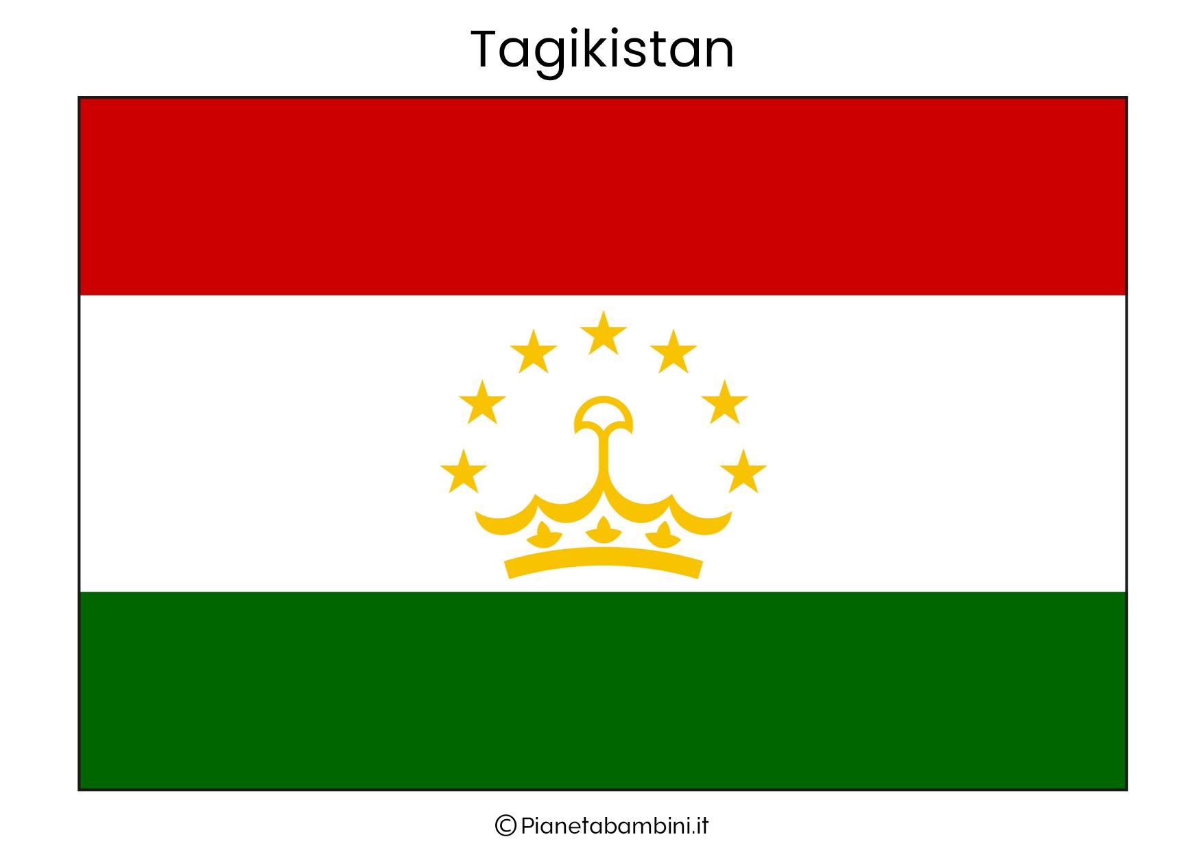 Bandiera del Tgikistan da stampare