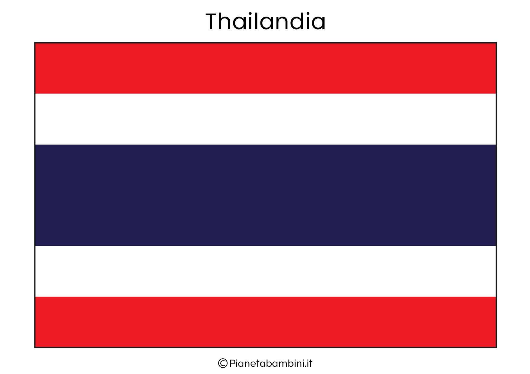 Bandiera della Thailandia da stampare