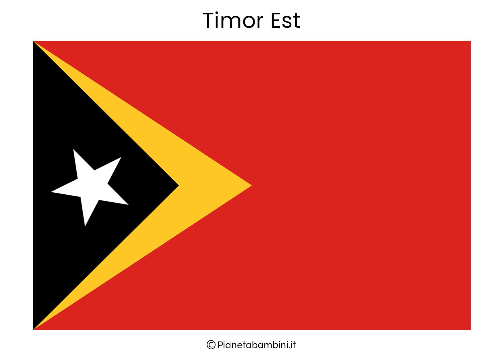 Bandiera di Timor Est da stampare