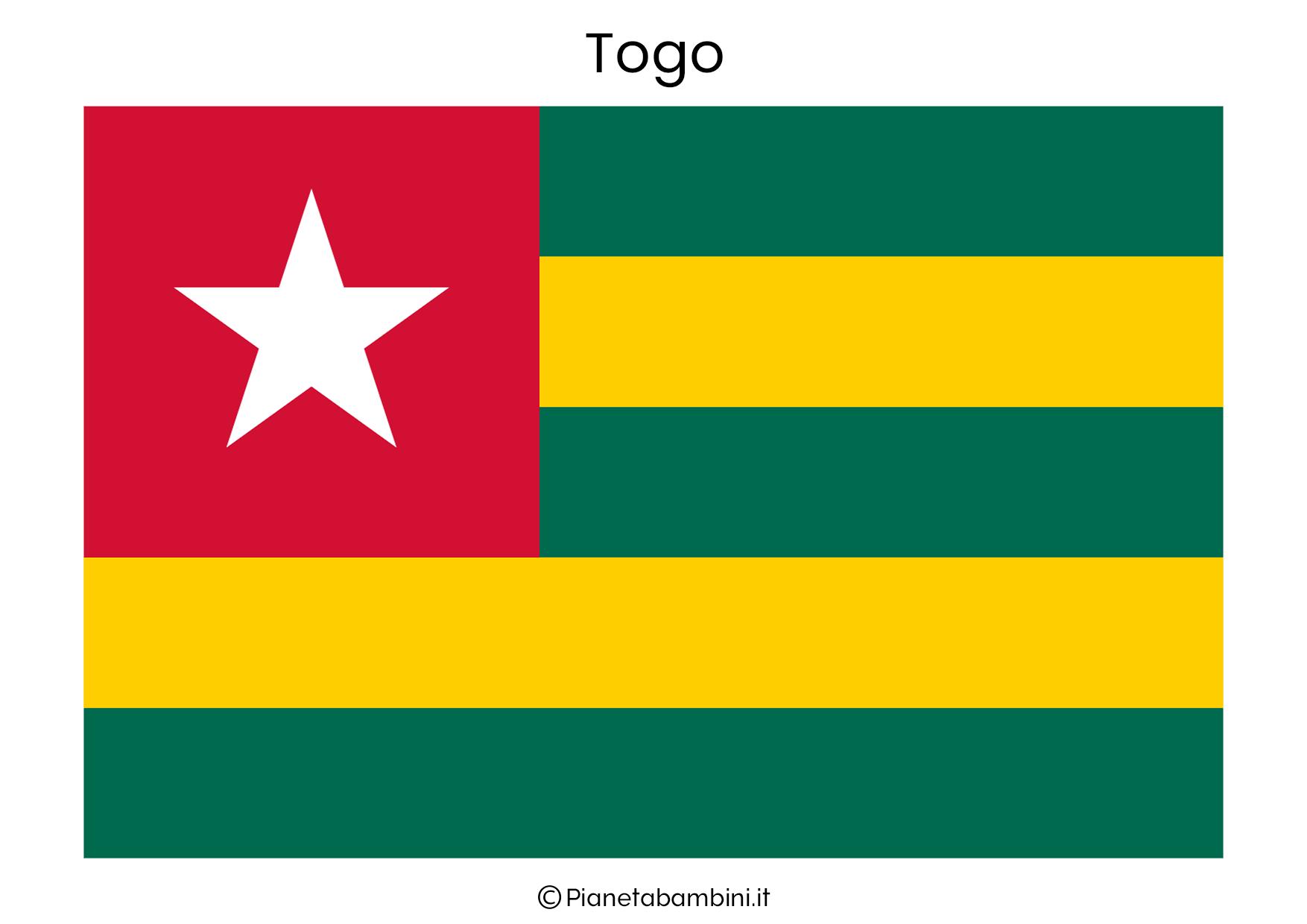 Bandiera del Togo da stampare