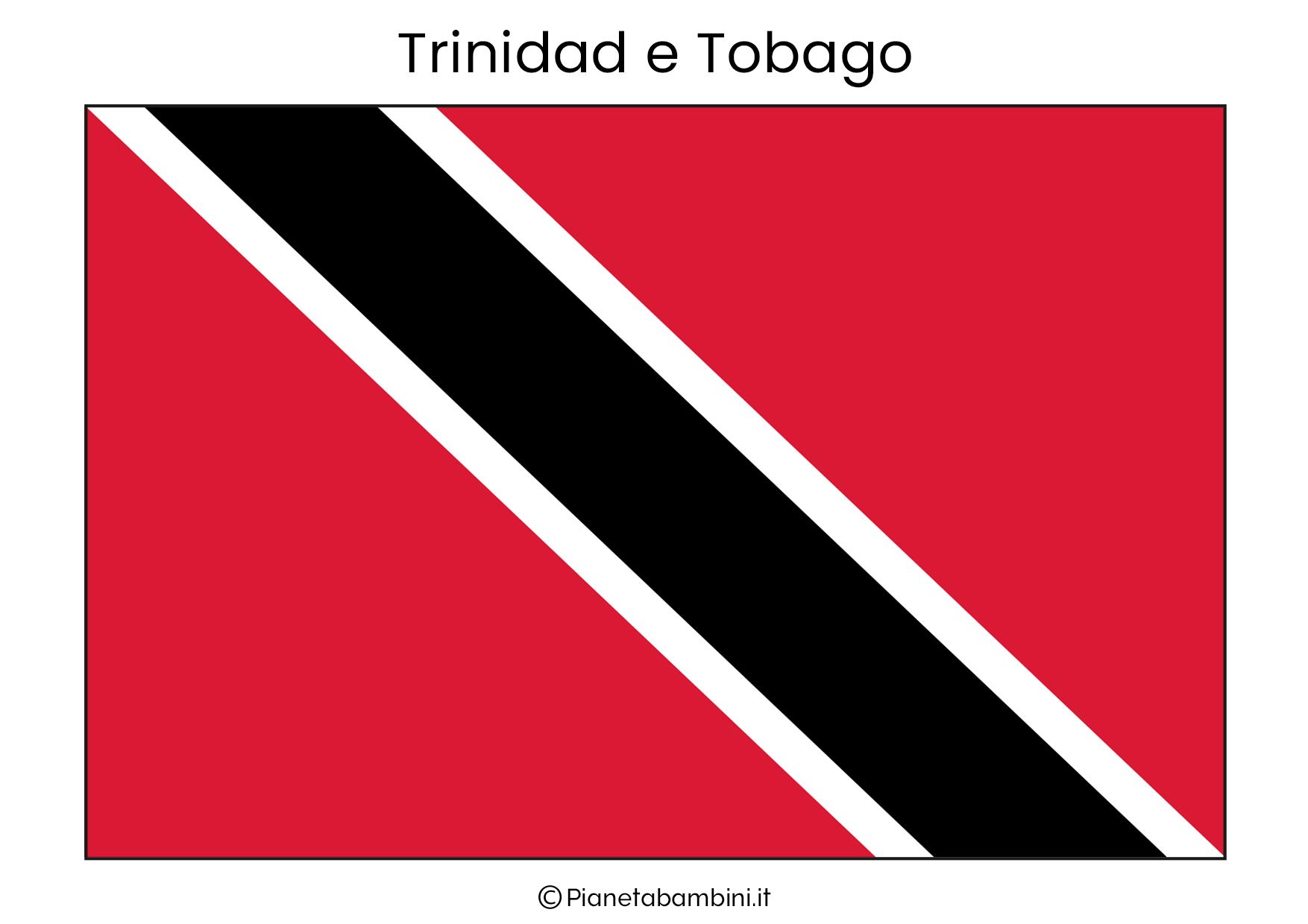 Bandiera di Trinidad e Tobago da stampare