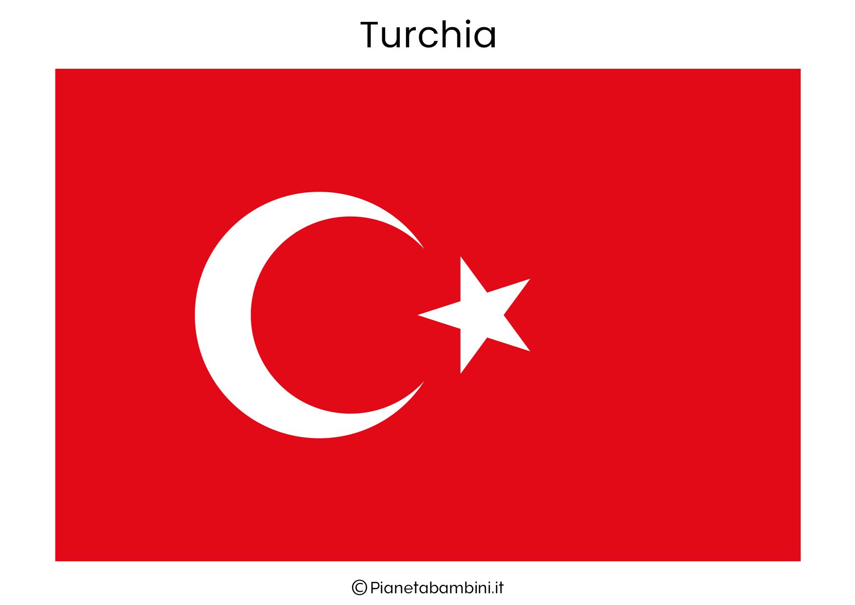 Bandiera della Turchia da stampare