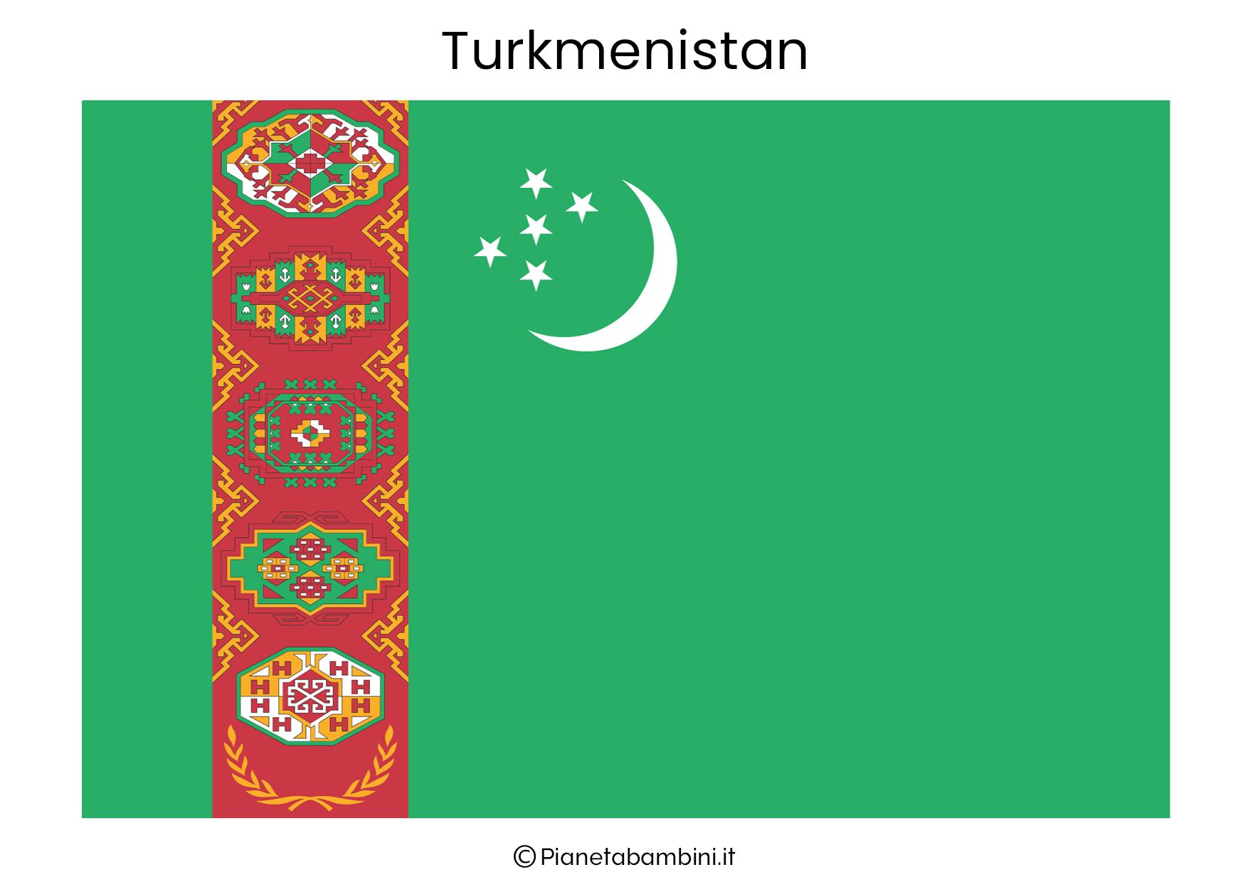 Bandiera del Turkmenistan da stampare