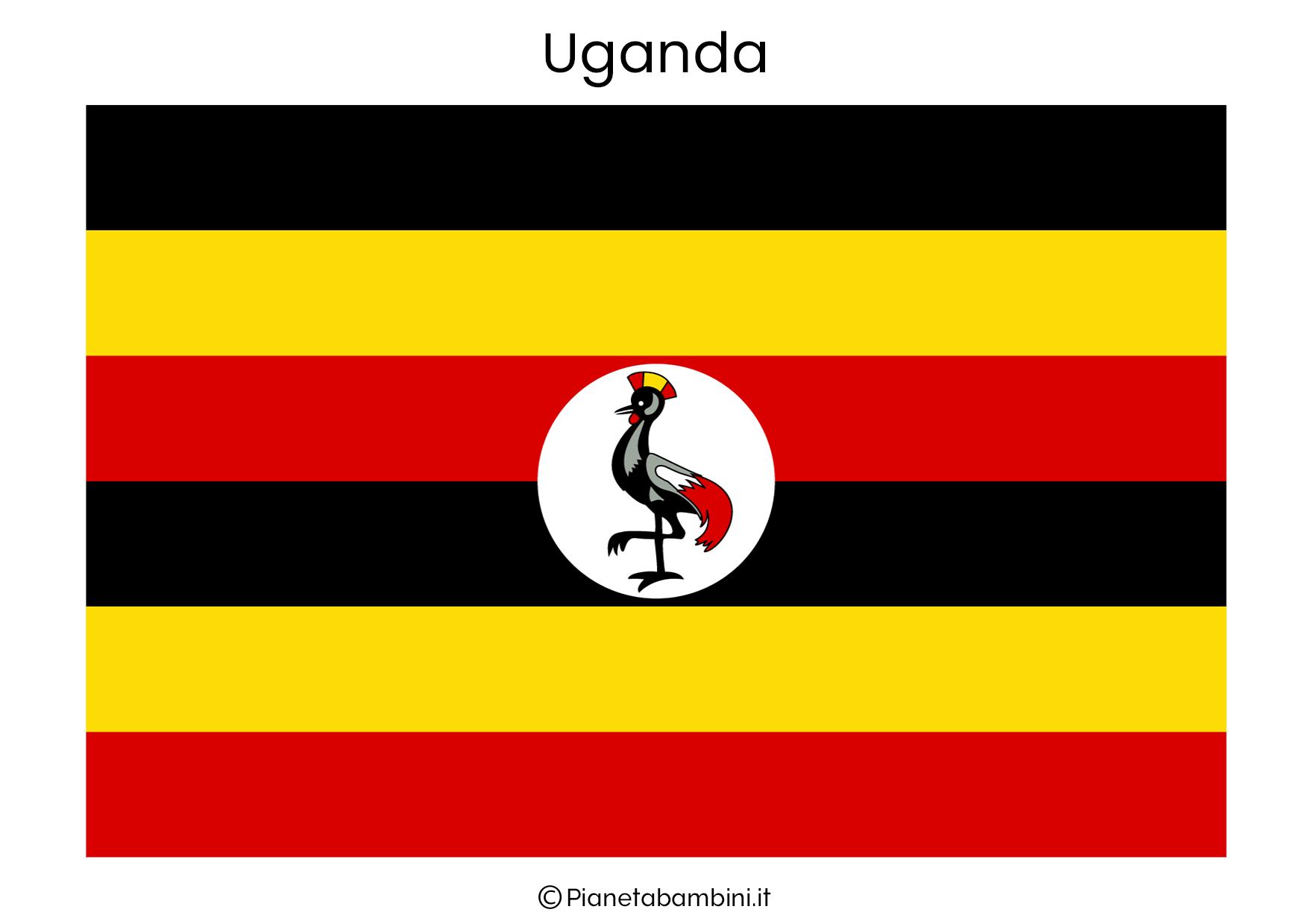Bandiera dell'Uganda da stampare
