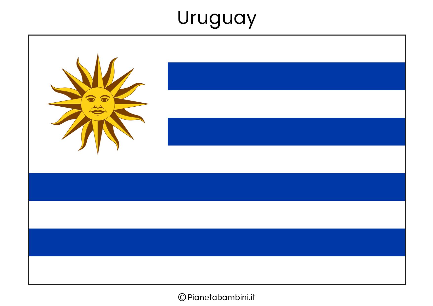 Bandiera dell'Uruguay da stampare
