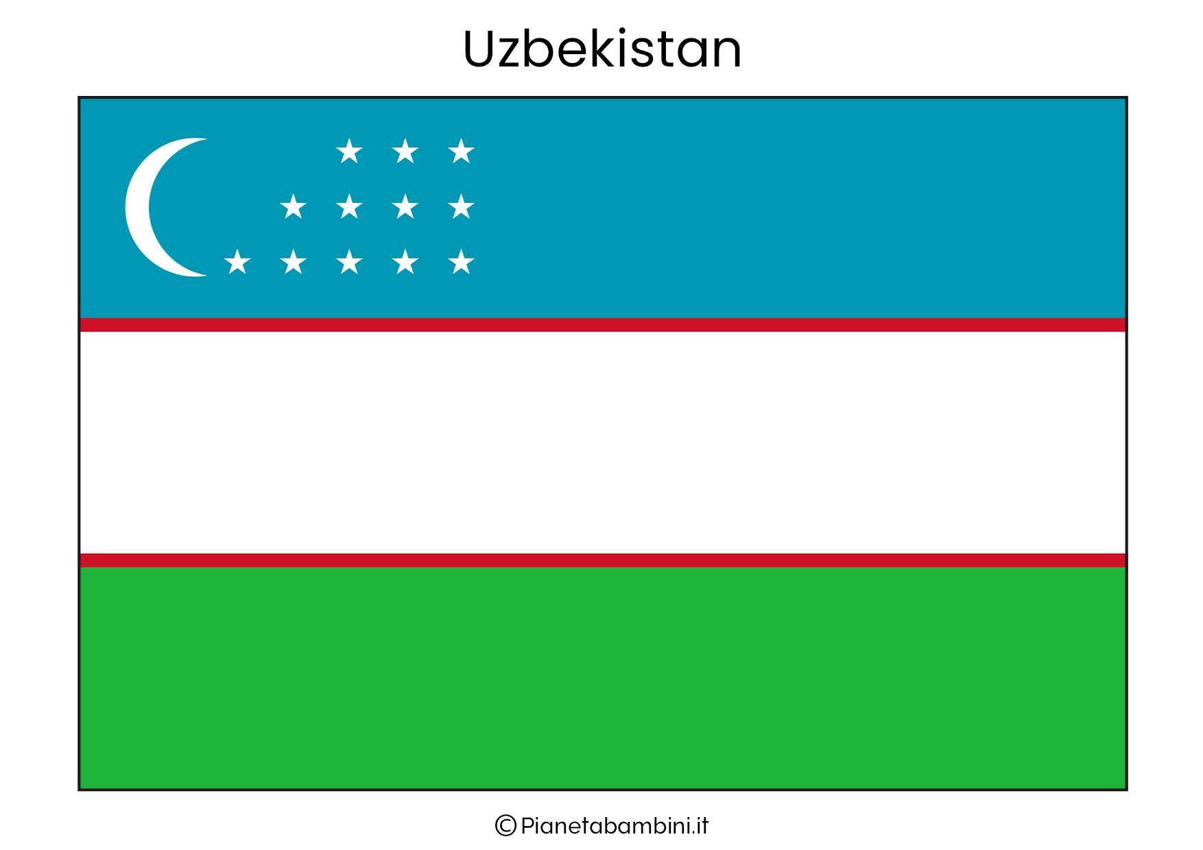 Bandiera del Uzbekistan da stampare