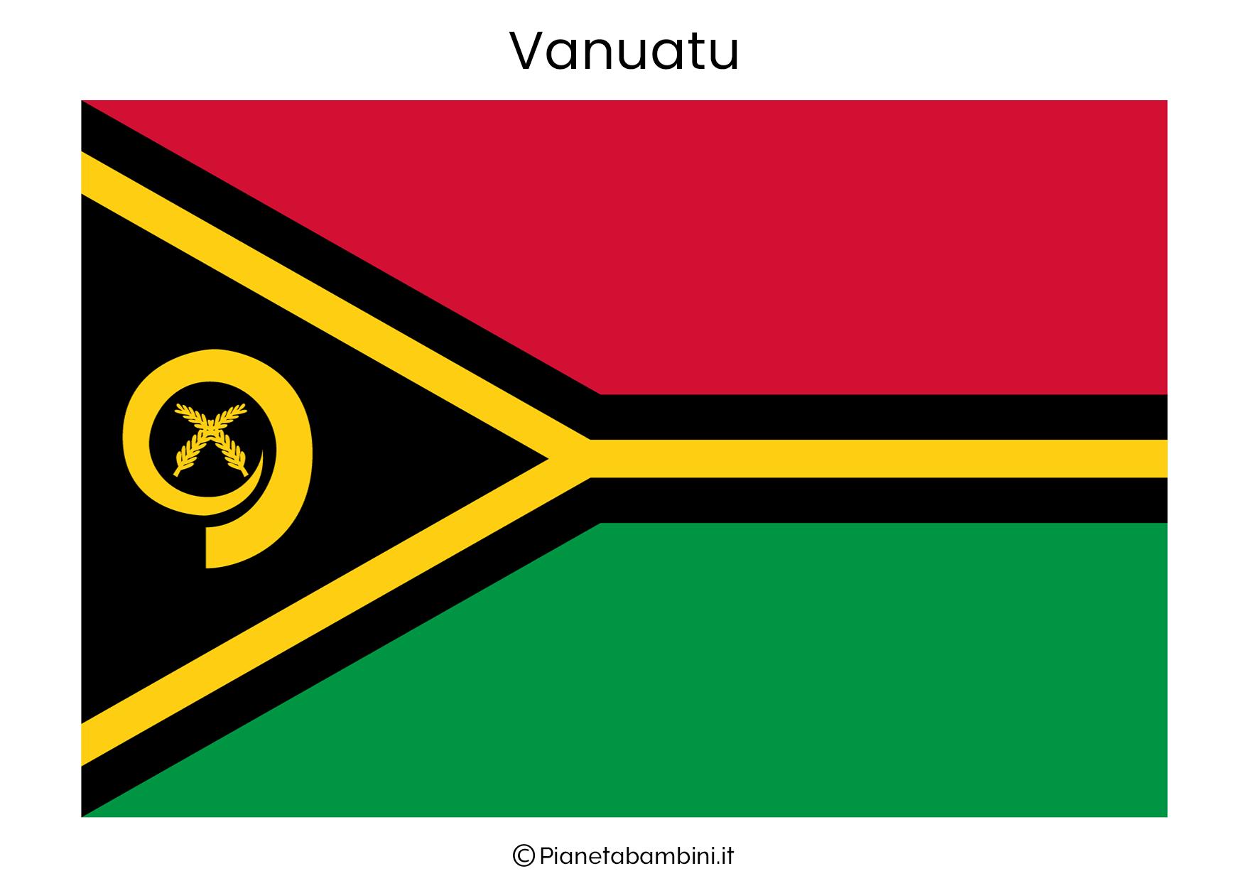 Bandiera di Vanuatu da stampare