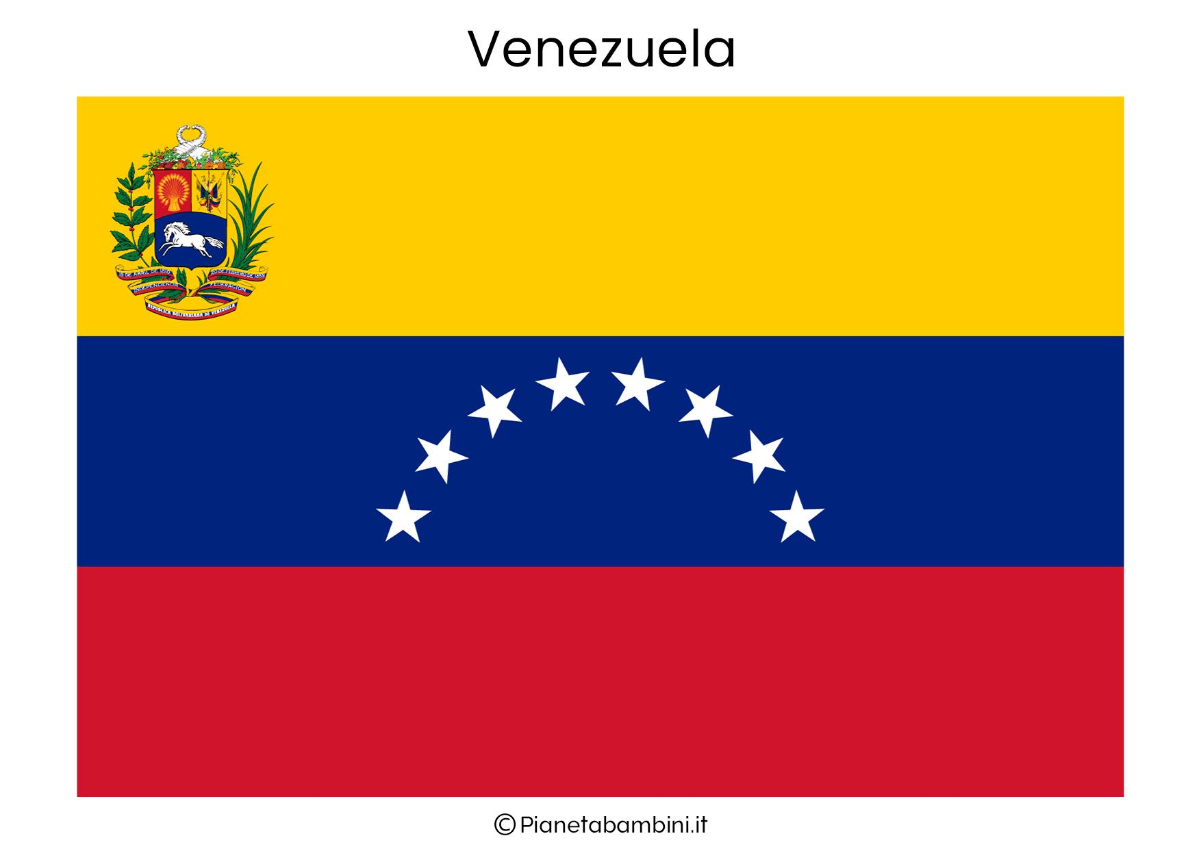 Bandiera del Venezuela da stampare