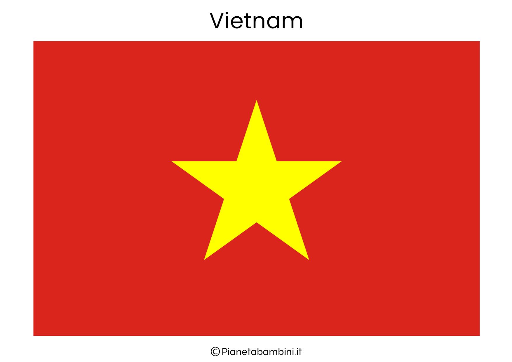 Bandiera del Vietnam da stampare
