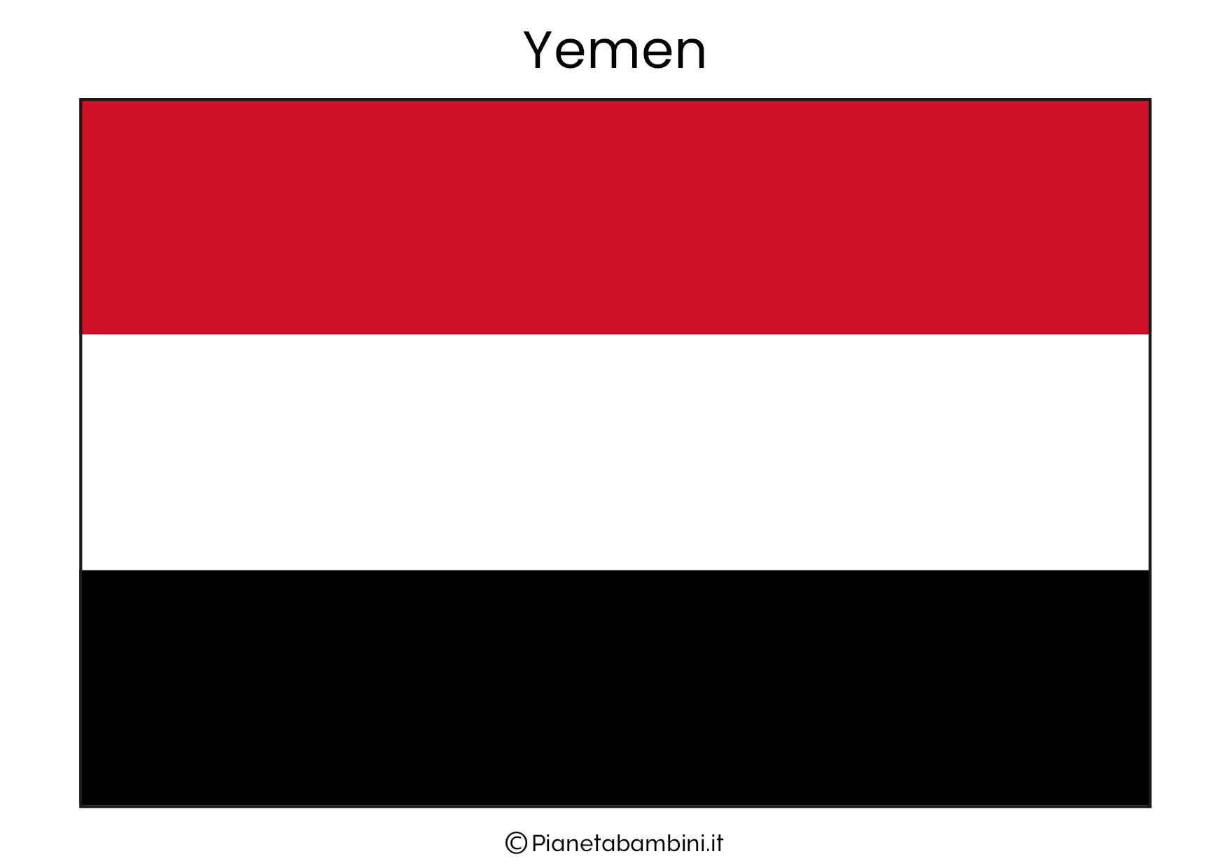 Bandiera dello Yemen da stampare