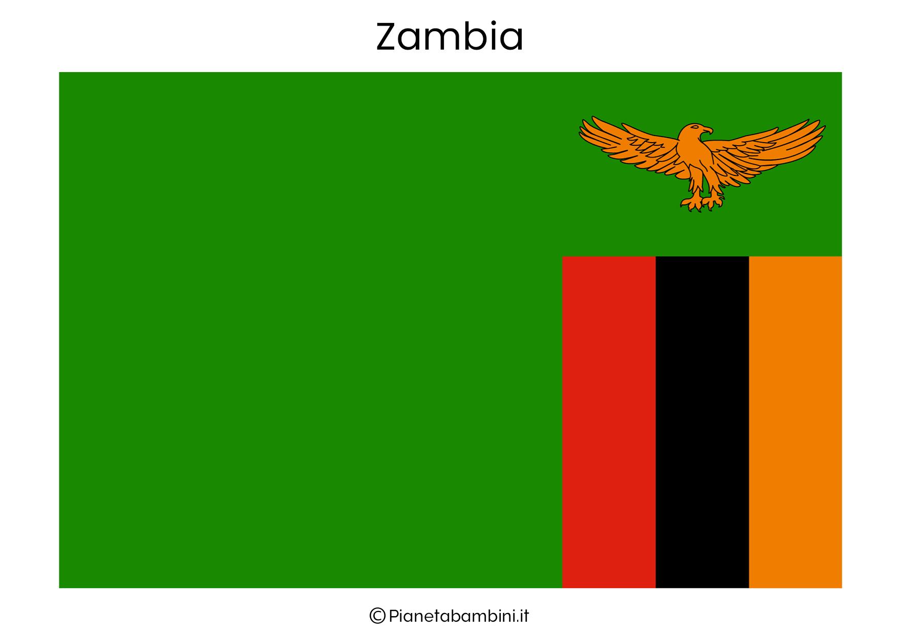 Bandiera dello Zambia da stampare