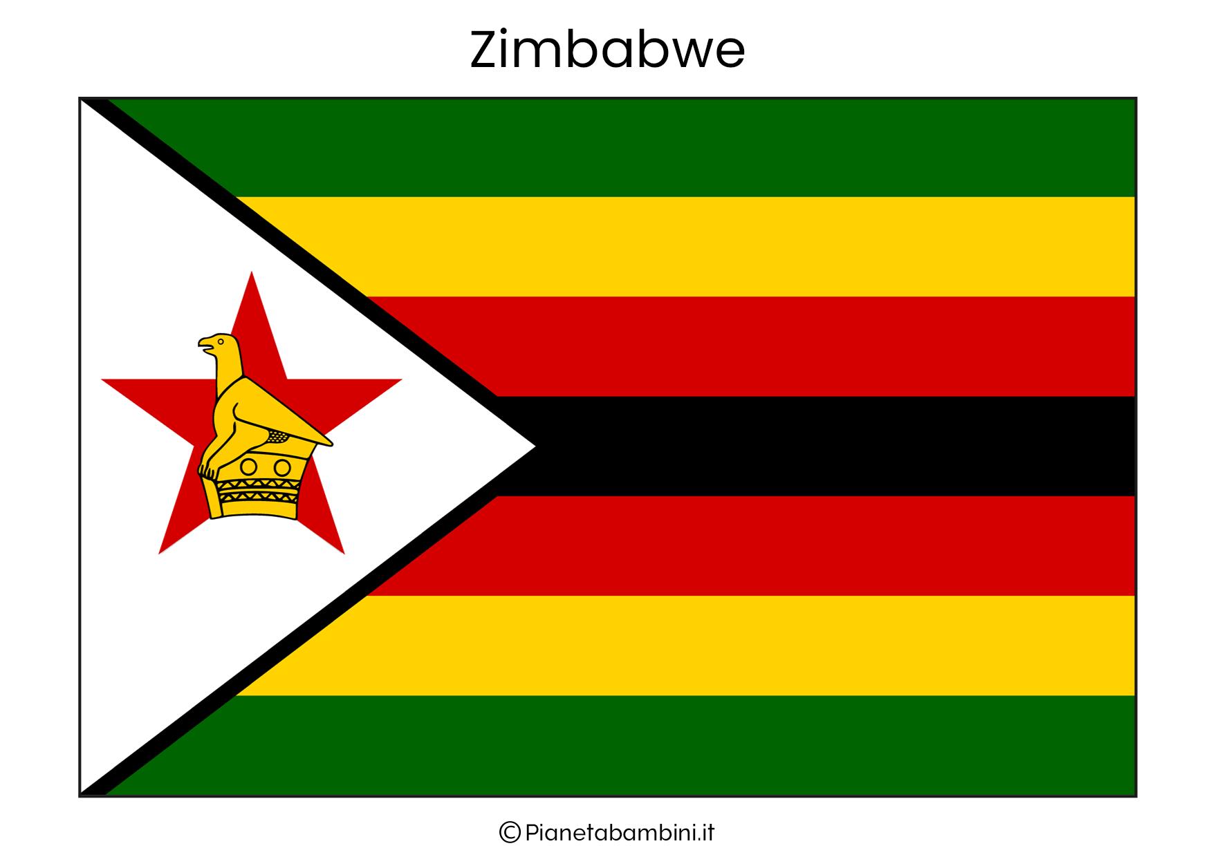 Bandiera dello Zimbabwe da stampare
