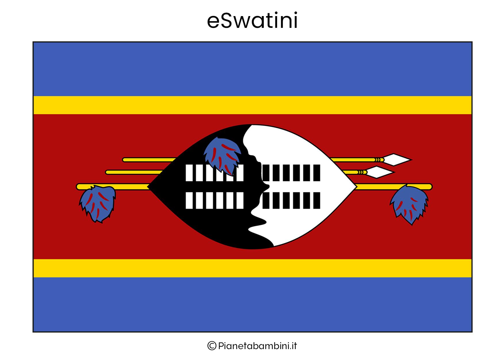 Bandiera dell'eSwatini da stampare