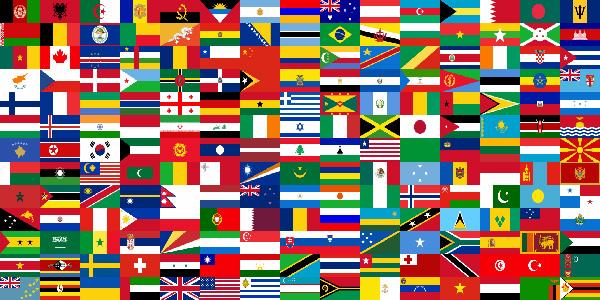 Le bandiere del mondo da ritagliare