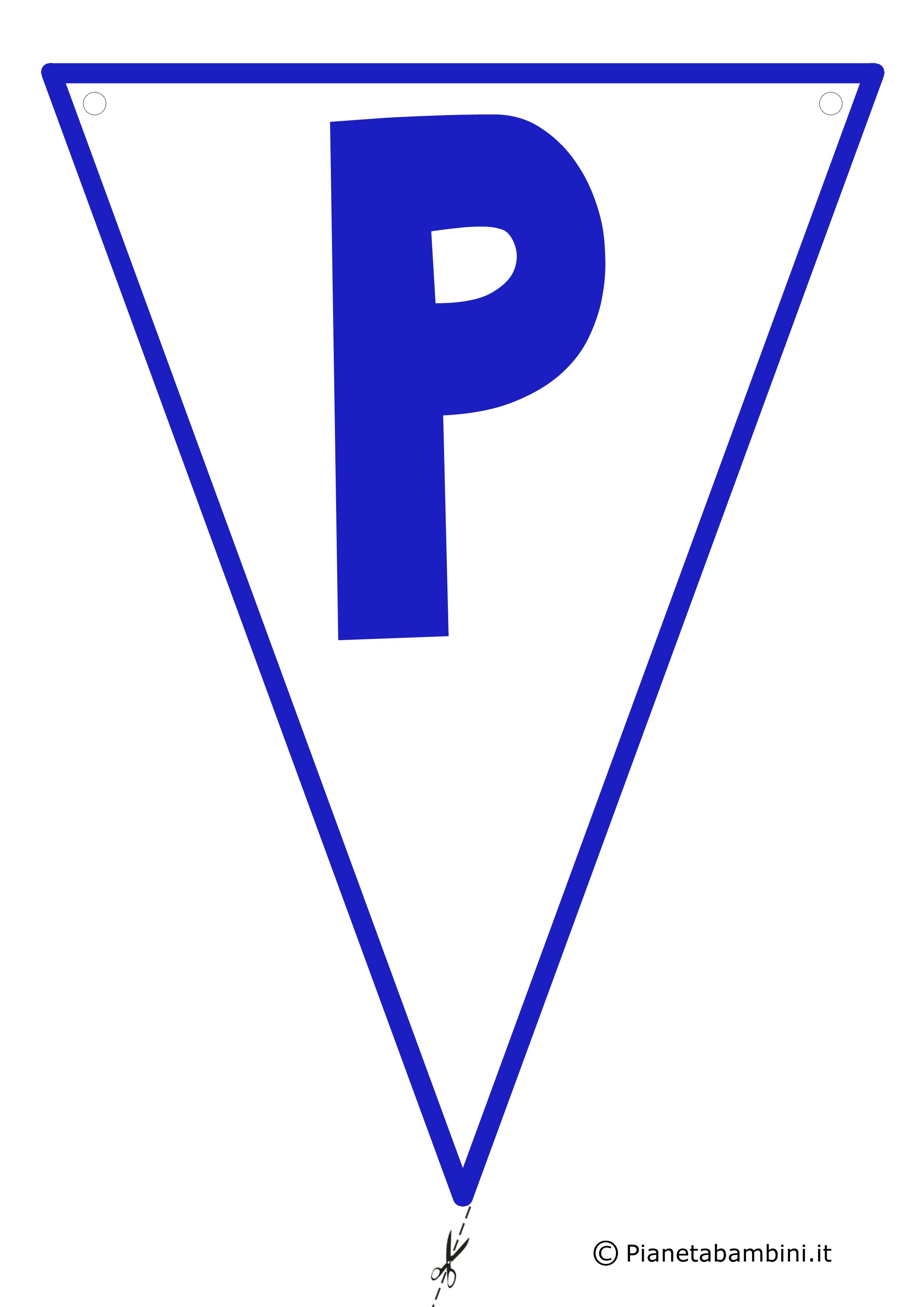 Bandierina-P-Blu