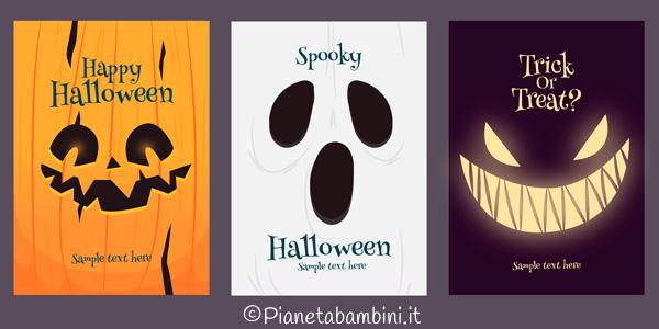 Biglietti di inviti per Halloween da stampare gratis e ritagliare