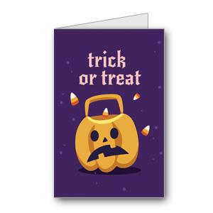 Biglietto di Halloween da stampare n.25