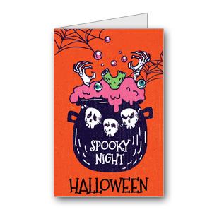 Biglietto di Halloween da stampare n.30