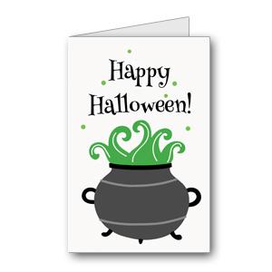 Biglietto di Halloween da stampare n.34